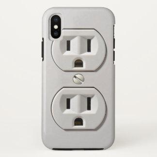 Capa Para iPhone X A tomada elétrica obstrui dentro o caso do iPhone