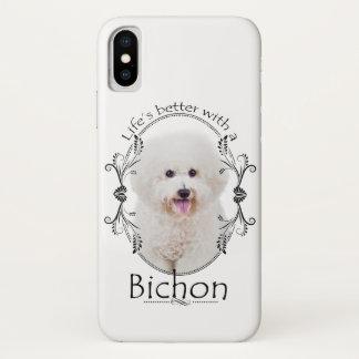 Capa Para iPhone X A vida é melhor caso de Bichon Smartphone