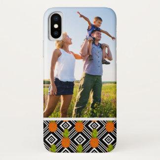 Capa Para iPhone X Abacaxis geométricos da foto feita sob encomenda