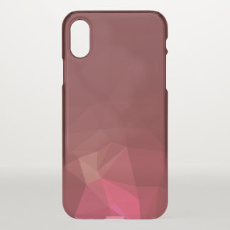 Capa Para iPhone X Abstrato & design geométrico moderno - escarlate