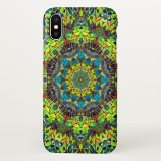 Capa Para iPhone X abstrato floral G89 do Fractal do caso do iPhone X