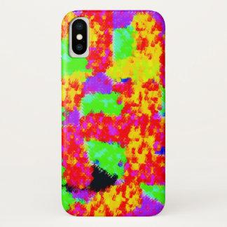 Capa Para iPhone X abstrato na moda colorido