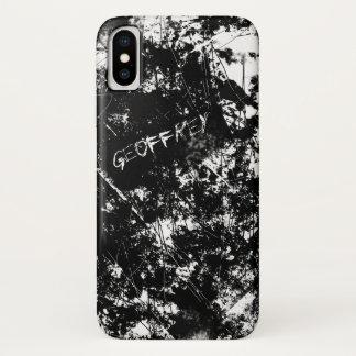 Capa Para iPhone X Abstrato preto e branco do risco do Grunge urbano