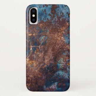 Capa Para iPhone X Aço velho oxidado do metal do Grunge de Scrathed