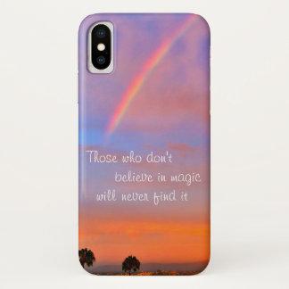 """Capa Para iPhone X """"Acredite"""" na foto mágica do nascer do sol do"""