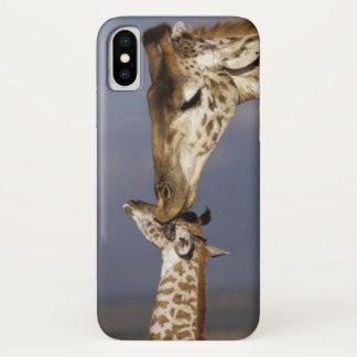 Capa Para iPhone X África, Kenya, Masai Mara. Girafas (girafa