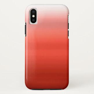 Capa Para iPhone X Aguarela vermelha Ombre