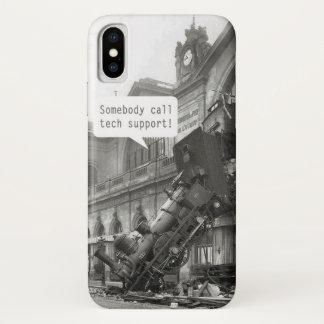 Capa Para iPhone X Alguém chama a destruição do trem do suporte