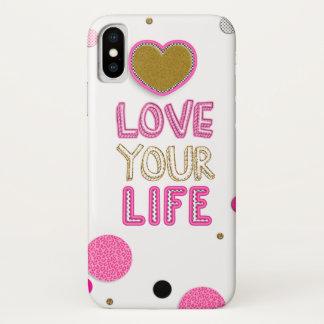 Capa Para iPhone X Ame sua vida