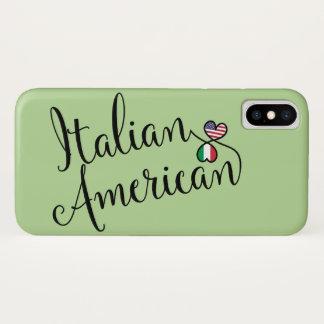 Capa Para iPhone X Americano italiano caso entrelaçado do telemóvel