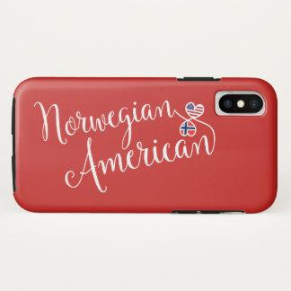 Capa Para iPhone X Americano norueguês caso entrelaçado do telemóvel
