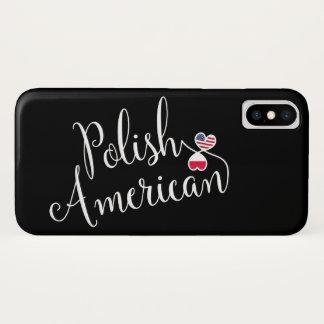 Capa Para iPhone X Americano polonês caso entrelaçado do telemóvel