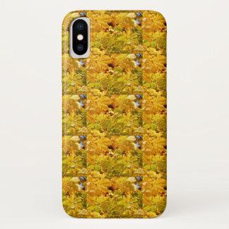 Capa Para iPhone X Amor amarelo da cor do outono