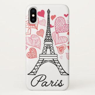 Capa Para iPhone X Amor de Paris, France