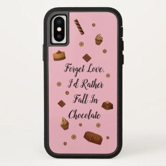 Capa Para iPhone X Amor do chocolate