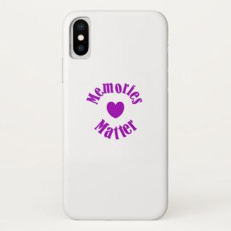 Capa Para iPhone X Amor roxo das memórias da fita da consciência de