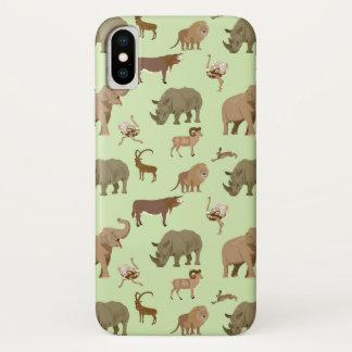 Capa Para iPhone X Animais selvagens