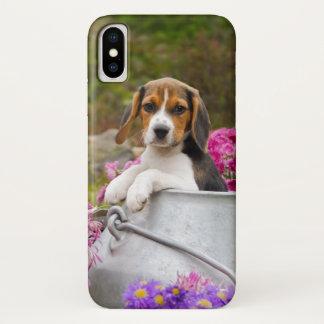 Capa Para iPhone X Animal de estimação Tricolor bonito do filhote de