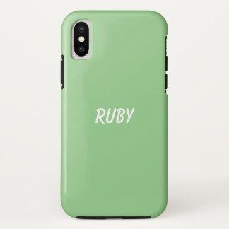 Capa Para iPhone X Apple verde personalizado