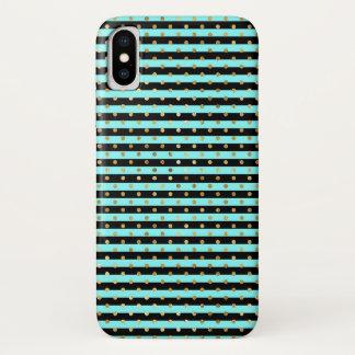 Capa Para iPhone X Aqua, preto, caso do iPhone X da case mate do ouro