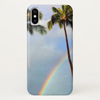 Capa Para iPhone X Arco-íris através do caso de Iphone X das