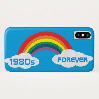 Capa Para iPhone X Arco-íris retro dos anos 80 da caixa do CaseMate