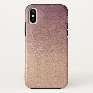 Capa Para iPhone X Areia cor-de-rosa do brilho de Ombre do ouro de