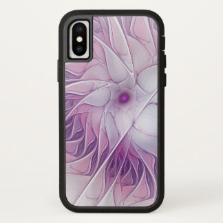 Capa Para iPhone X Arte abstrata moderna do Fractal da flor