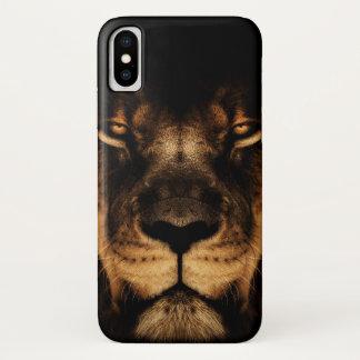 Capa Para iPhone X Arte africana da cara do leão
