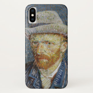 Capa Para iPhone X Arte cinzenta da pintura do chapéu de feltro do
