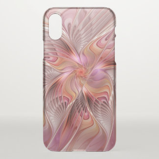 Capa Para iPhone X Arte colorida do Fractal da fantasia da borboleta