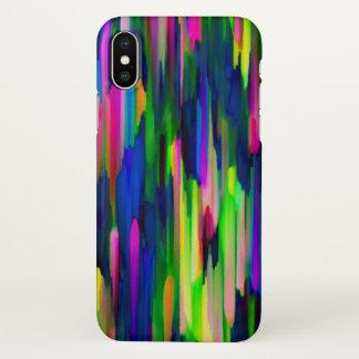 Capa Para iPhone X arte digital colorida do caso do iPhone X que