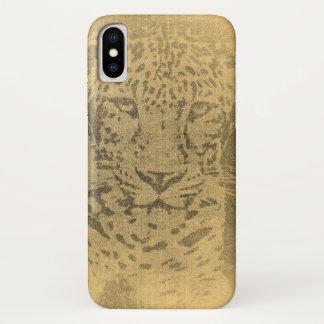 Capa Para iPhone X Arte do leopardo