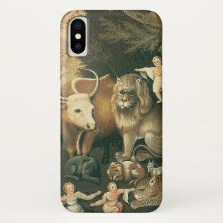 Capa Para iPhone X Arte do Victorian, reino pacífica por aldeões de