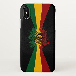 Capa Para iPhone X arte dos grafites da reggae do rasta