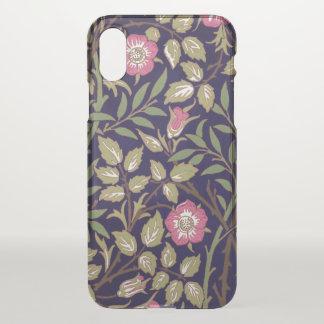 Capa Para iPhone X Arte floral Nouveau do Briar doce de William