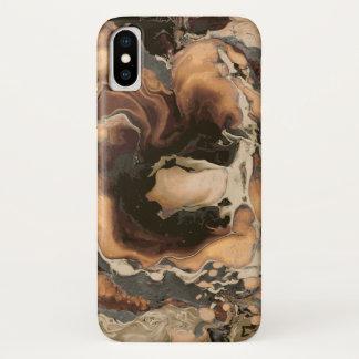 Capa Para iPhone X Arte líquida da pintura da textura de mármore