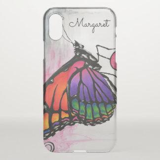 Capa Para iPhone X Arte original da fantasia da borboleta de monarca
