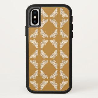 Capa Para iPhone X Artes alaranjadas e borboletas dos artesanatos
