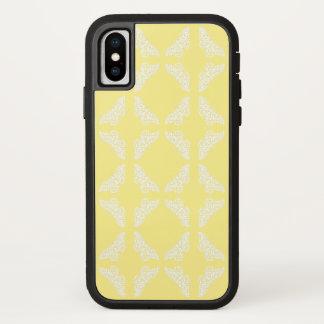Capa Para iPhone X Artes amarelas e borboletas dos artesanatos