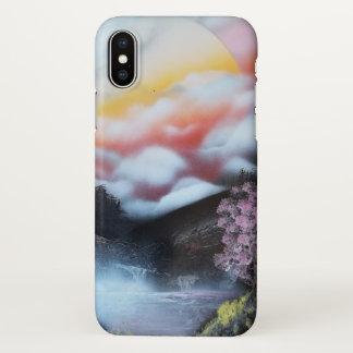 Capa Para iPhone X Árvore de cereja da arte da pintura pistola