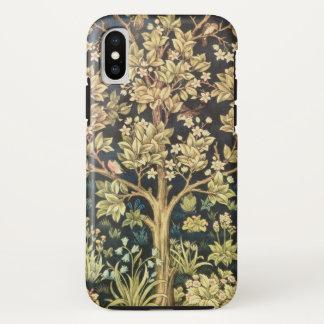 Capa Para iPhone X Árvore de William Morris do Pre-Raphaelite do