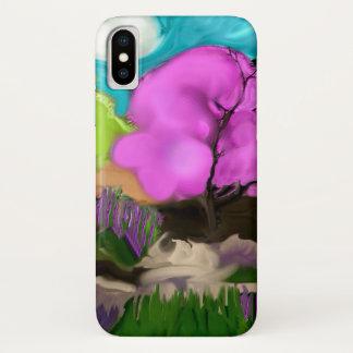 Capa Para iPhone X Árvores do algodão doce da arte abstracta