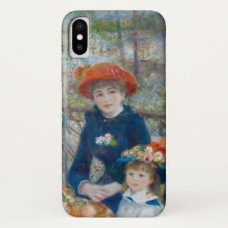 Capa Para iPhone X As duas irmãs no terraço por Renoir