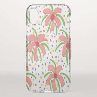 Capa Para iPhone X As flores de festa tropicais cancelam o caso do