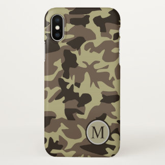 Capa Para iPhone X As forças armadas legal camuflam o monograma do
