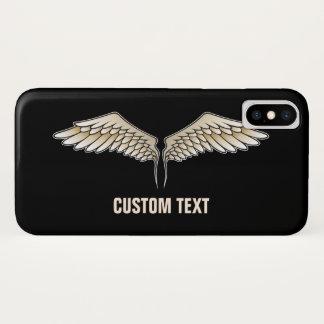 Capa Para iPhone X Asas bege
