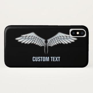Capa Para iPhone X asas das Azul-cinzas