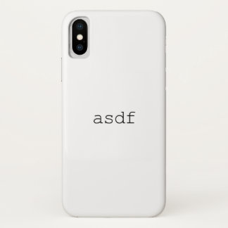 Capa Para iPhone X asdf