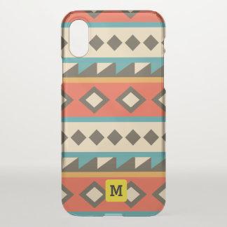 Capa Para iPhone X Asteca moderno. Étnico. Tribal. Geométrico